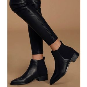 Steve Madden Jingle Leather Pointed-Toe Booties